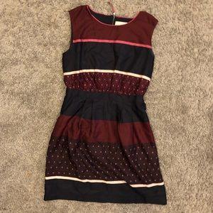 Loft Ann Taylor Women's Sz 0 Maroon Shift Dress